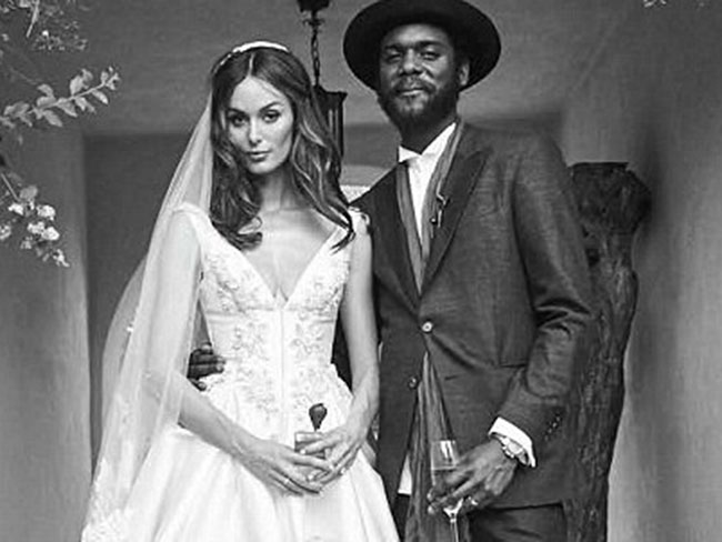Nicole Trunfio looks drop dead gorgeous as she ties the knot with Gary Clark Jnr