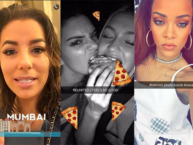 A definitive list of celebrities' official Snapchat usernames