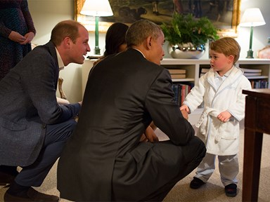HOLY ADORABLENESS! Prince George just had a play date with the Obamas