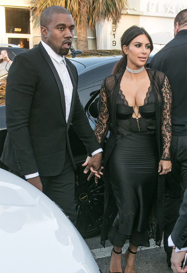 """Kim and Kanye scrubbed up real good for the nuptials of their pals model Isabela Rangel and Dave Grutman. Then [this happened...](http://www.cosmopolitan.com.au/celebrity/celebrity-gossip/2016/4/kim-kardashian-stealing-beyonces-moment/