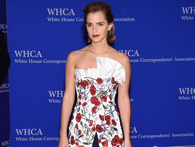 Emma Watson slays on the White House Correspondents' Dinner red carpet