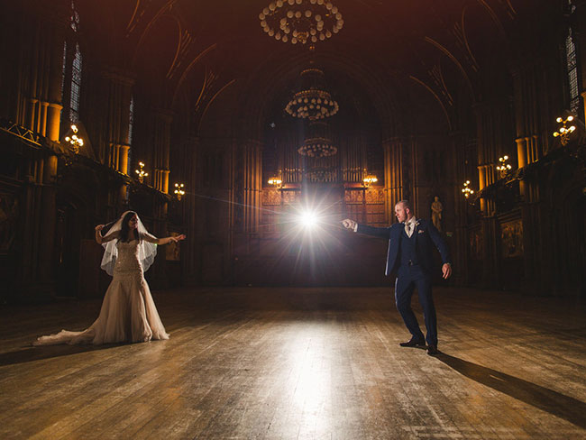 This couple had a Harry Potter themed wedding and holy Hogwarts
