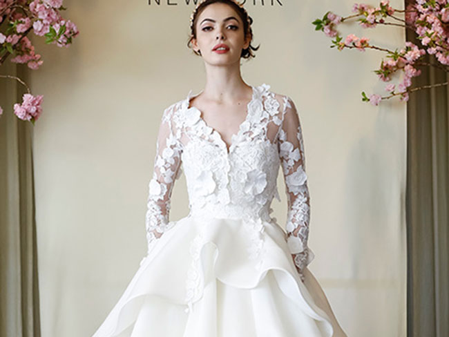 45 of the best long-sleeved wedding dresses from Bridal Fashion Week
