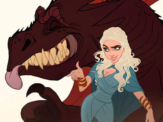 This Game of Thrones x Disney mash-up is EVERYTHING