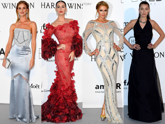 All the best red carpet looks from amfAR's 23rd Cinema Against AIDS Gala