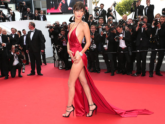 Bella Hadid's stylist reveals how she wore that Cannes dress without flashing her bits