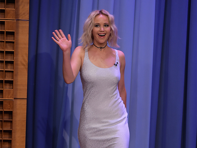 Jennifer Lawrence went on The Tonight Show Starring Jimmy Fallon with a booger hanging off her nose