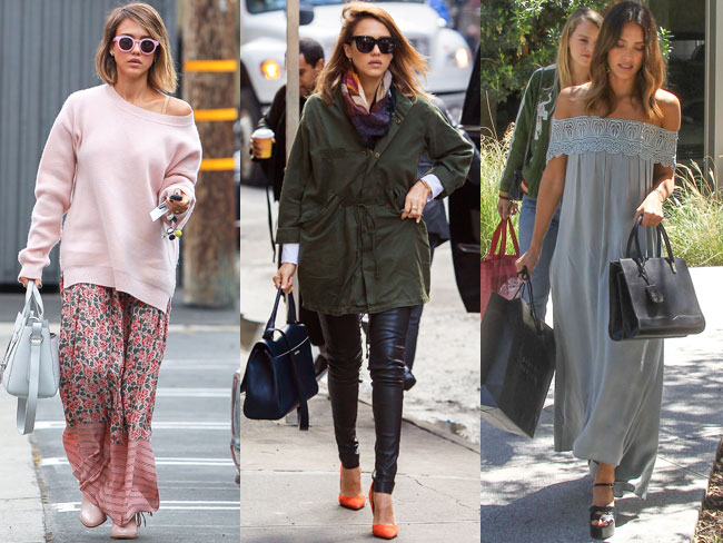 20 street style pics that prove Jessica Alba is the queen of cute-casual