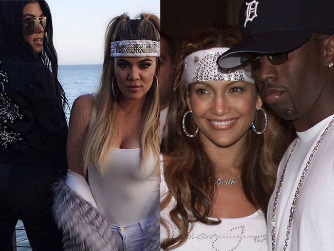 Khloé Kardashian recreated a classic J.Lo look for Scott Disick's birthday