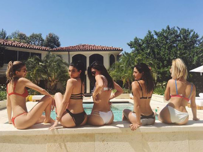 Kendall and Kylie Jenner just threw an EPIC pool party