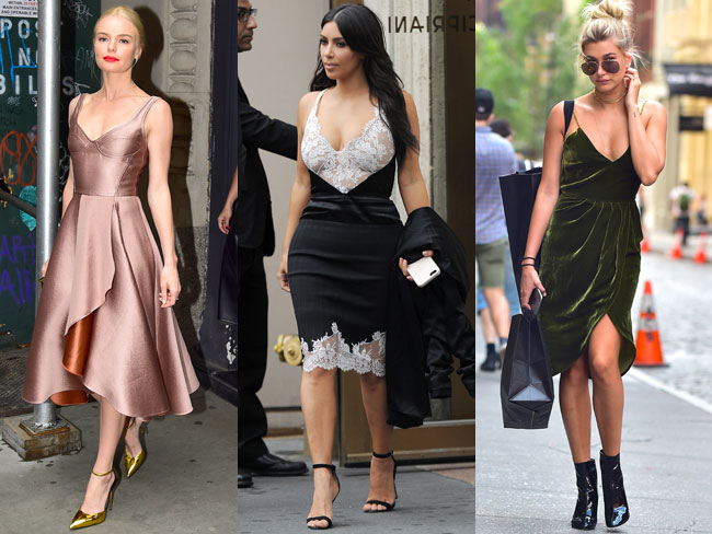 Celebrities wearing things in June