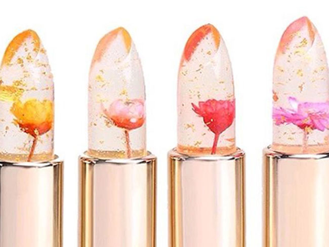 These jelly flower lipsticks are mesmerizing AF