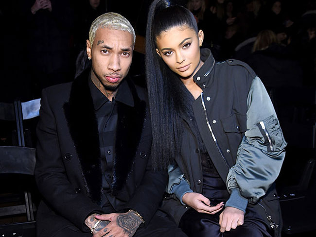 "Here's a photo of Kylie Jenner and Tyga at Kanye's ""Famous"" premiere"