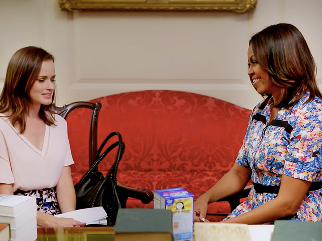When Rory Gilmore met Michelle Obama it went exactly how you'd expect