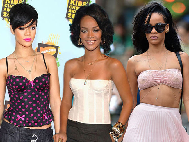 17 times Rihanna rocked the underwear as outerwear trend