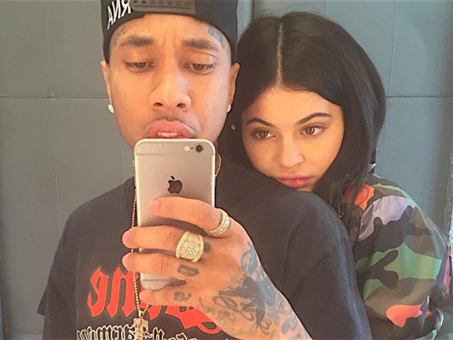 Kylie Jenner and Tyga make it social media official – again