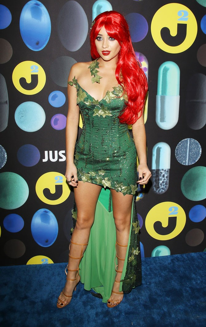 Shay was the sexiest Poison Ivy we have ever seen at the Just Jared Halloween party.