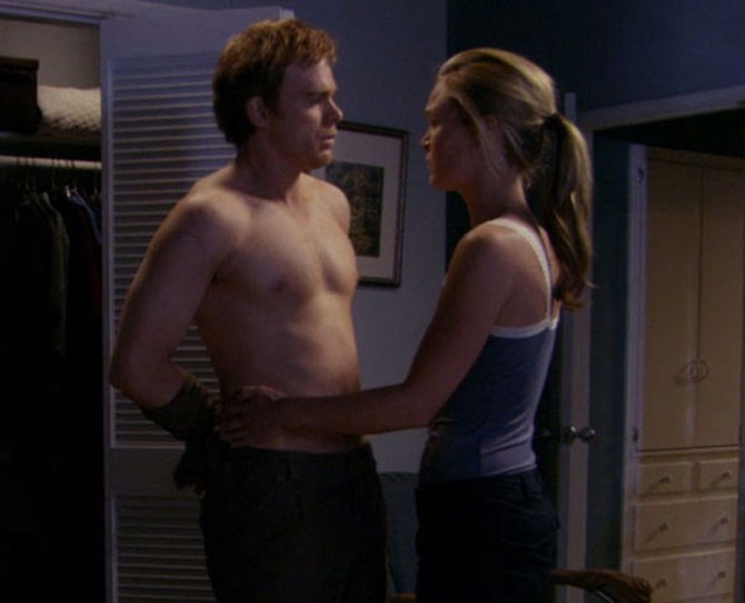 **1. Dexter: Dexter and Lumen finally do it** It didn't happen until episode 10, after Dexter helped Lumen kill Alex Tilden, the man responsible for the torture of more than a dozen women, Lumen included. The lead-up was sick and twisted, but the tension was real, and the sex itself was a rare instance of Dexter ~making love~ with his Dark Passenger in plain sight