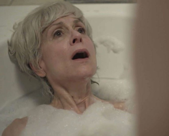 """**8. Transparent: Maura fingers Shelly in the bathtub** There's a layer of deep sadness to the scene: Maura is feeling horribly insecure wearing a bathing suit in front of her friends for the first time; Shelly is longing for the past (including her ex's """"flicky-flicky thump-thump""""). But the ecstasy being felt beneath those bubbles can't be denied."""