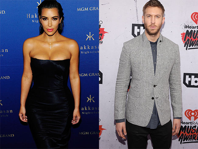 Kim Kardashian and Calvin Harris party together in Vegas