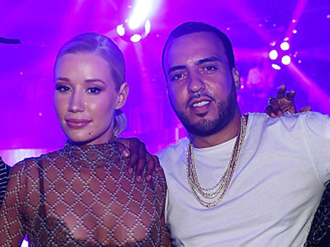 Iggy Azalea and rapper French Montana leave Vegas party together