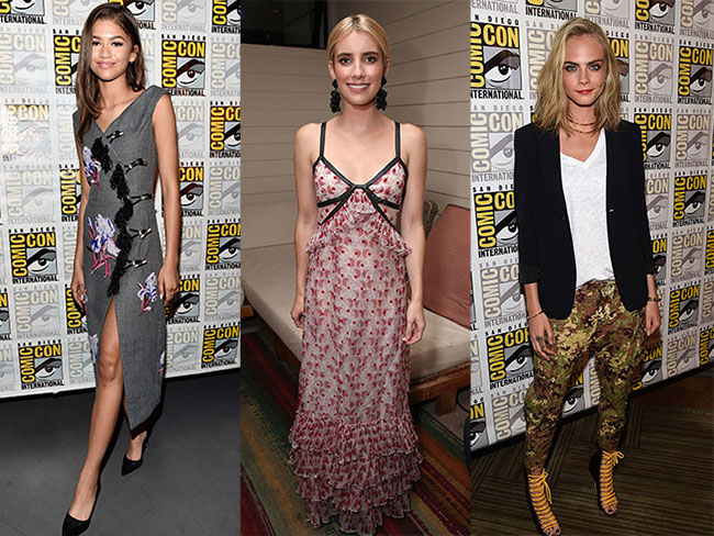 All the hottest celeb red-carpet looks from Comic-Con