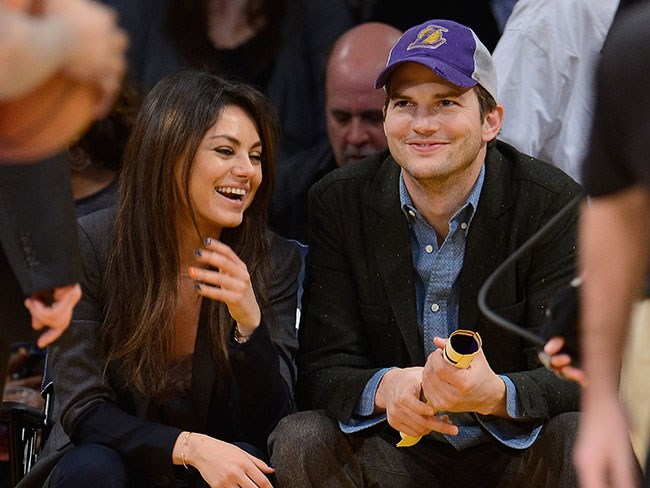 Mila Kunis just talked about Ashton Kutcher's penis on television