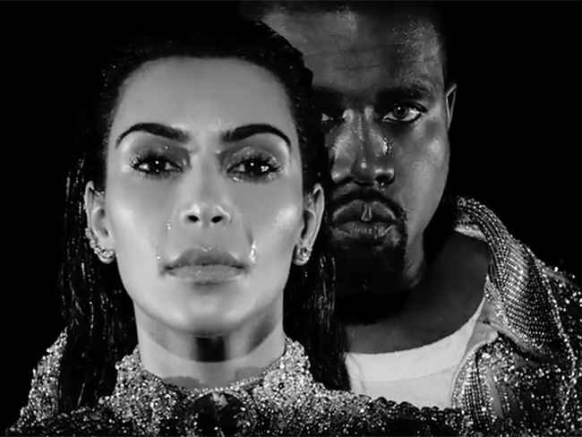 "Kanye West and Kim Kardashian cry in his ""Wolves"" video and it's intense"