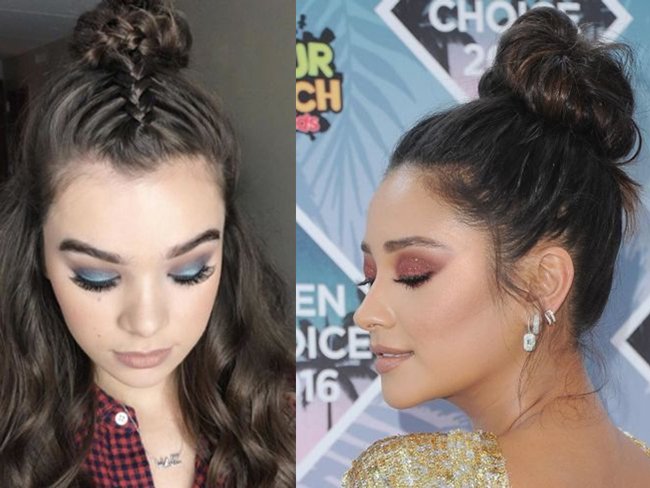 These celebs made the top knot really fresh by adding this 1 thing