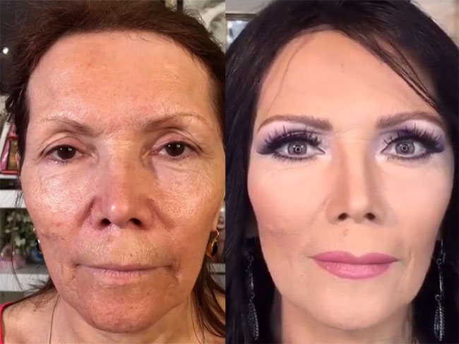 These older women makeup transformations will blow your damn mind