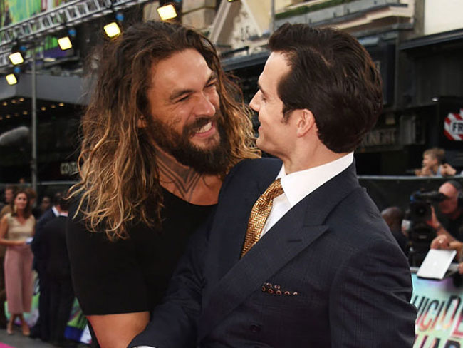 Jason Momoa is the sexiest fanboy in the entire world at the Suicide Squad London premiere