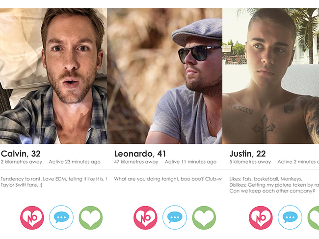 If celebrities had Tinder...