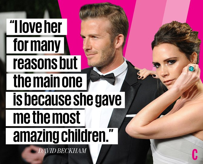 **David Beckham on Victoria Beckham:**
