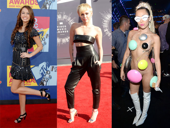 ALL of the outfits Miley Cyrus has ever worn to the MTV VMAs
