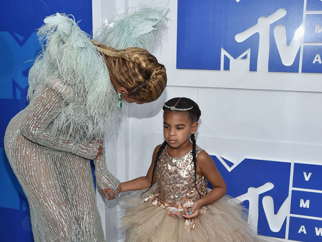 Blue Ivy was not here for all those VMAs cameras in her face