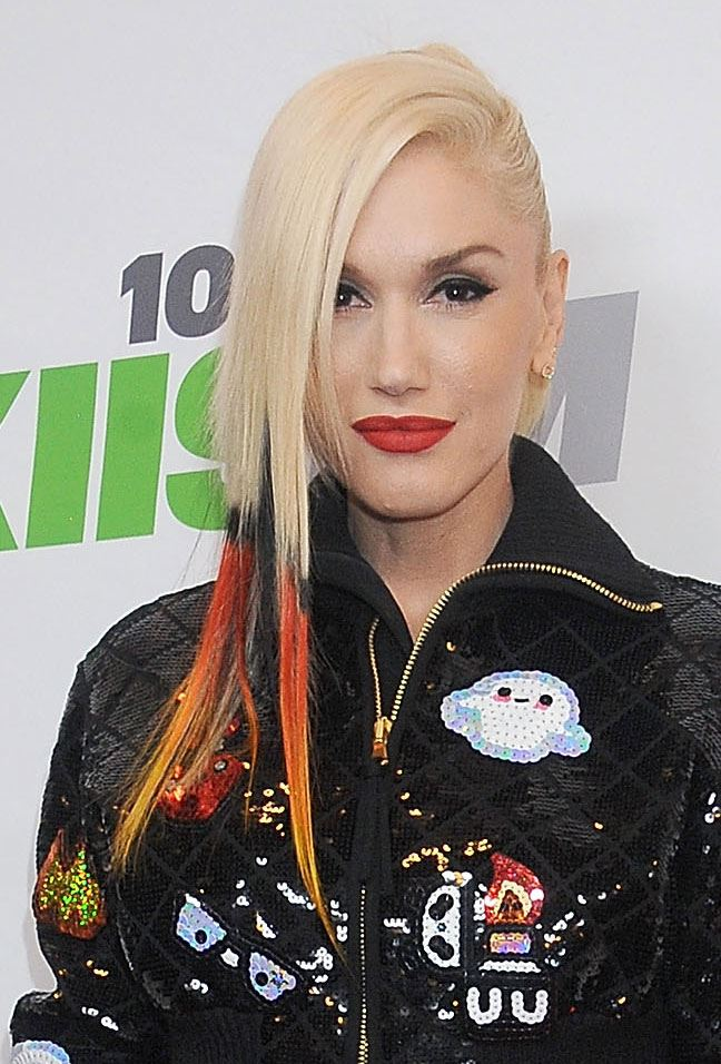 Hollywood's been looking like a kaleidoscope lately with celebs and their colourful hair! Gwen Stefani leads the pack with her orange dip-dyed locks. Could she be any cooler?!