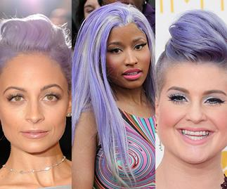 Celebs with coloured hair