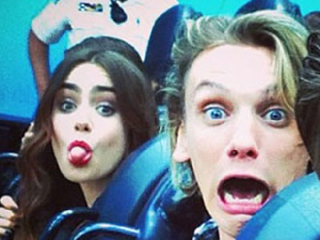 Lily Collins confirms she's back with Jamie Campbell Bower…