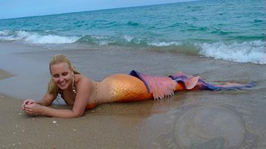 So turns out there's a real-life mermaid