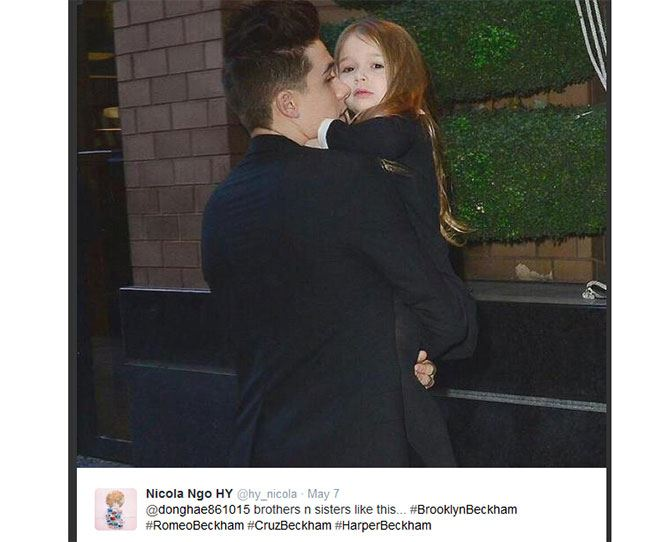 Confession time: we're obsessed with the Beckhams. And despite us begging, we still haven't been adopted into their family. But at least we can console ourselves with these heart-melting pics of Brooklyn being the world's greatest big bro to Harper Beckham. Gah! They're too cute for words!