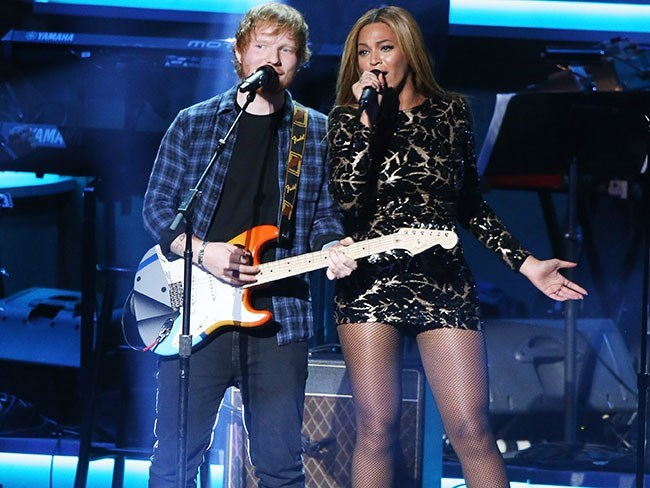 Ed Sheeran hung out with Beyoncé and Jay Z