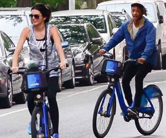 Kendall Jenner and Jaden Smith cycle around New York