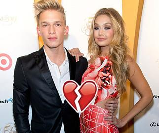 Cody Simpson and Gigi Hadid were seated next to each other on a flight