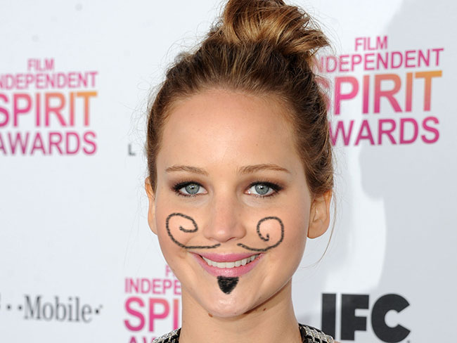 Jennifer Lawrence has been sporting some facial hair