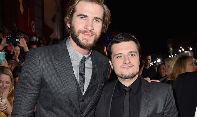 Liam Hemsworth says he will share an epic kiss with Josh Hutcherson in Mockingjay Part 2