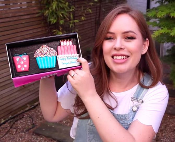 Tanya Burr. She makes videos about beauty and fashion, as well as vlogs her girly weekends with Zoella and one of their other besties, including…