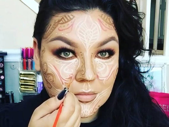 Henna contouring is an actual thing and it's beautiful