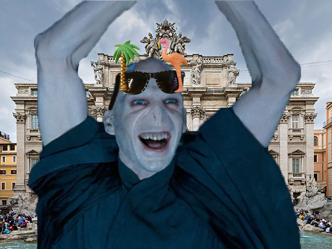 Proof that Voldemort is actually alive and well living in Rome