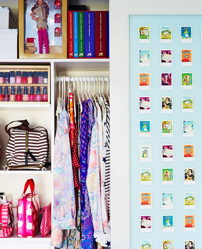 This one's for all the girls out there who just can't be bothered closing their wardrobe *raises hand*. Using blue-tack, stick your precious instant photos up and BAM - instant prettiness.
