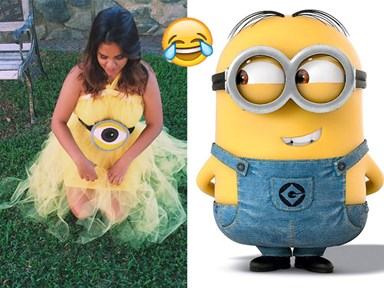 This girl wore a minion-inspired dress to her formal because she lost a twitter bet
